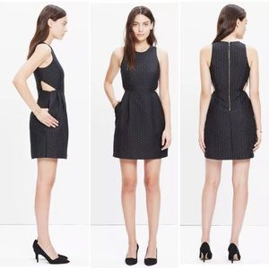 Madewell Jacquard Little Black Dress with Cutouts
